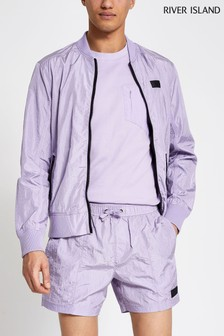 River Island Purple Light Lilac Pablo Swim Shorts