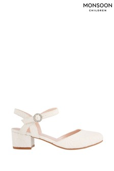 Monsoon Ivory Lace Two Part Heeled Shoes