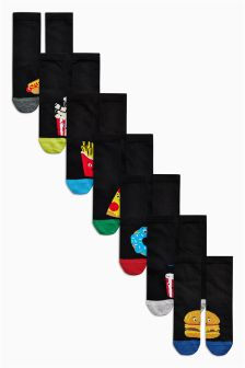 Fast Food Socks Seven Pack (Older)