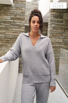 Collection Luxe Premium Rugby Jumper With Cashmere