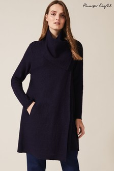 Phase Eight Blue Bellona Level Hem Coat