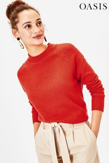 Oasis Orange Rebecca Raglan Jumper