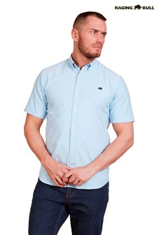 Raging Bull Blue Short Sleeve Signature Oxford Shirt