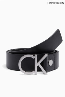 Calvin Klein Black Logo Adjustable Belt