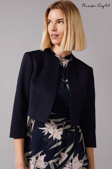 Phase Eight Blue Karlee Textured Jacket
