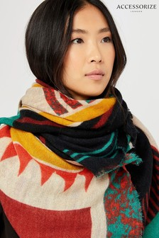 Accessorize Natural Lennox Oversized Square Scarf