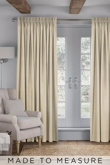 Legna Natural Lined Made To Measure Curtains