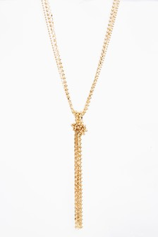 Multi Layer Knot Detail Necklace