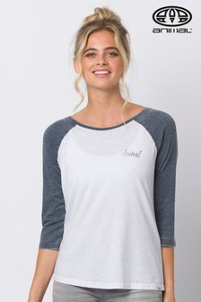 Animal Blue Surfside 3/4 Sleeve Raglan T-Shirt