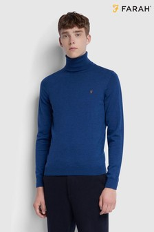 Farah Gold Marl Gosforth Roll Neck Jumper