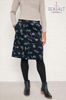 Seasalt Ferry Crossing Skirt Inked Tulip Dark Night