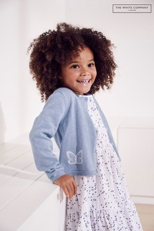 The White Company Blue Butterfly Cardigan