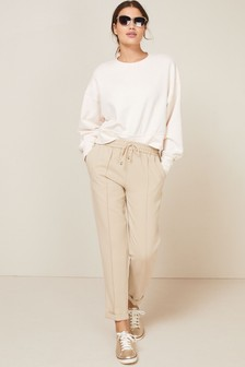 Elasticated Taper Trousers