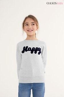 Oasis Slogan Sweatshirt