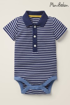 Boden Blue Smart Jersey Bodysuit