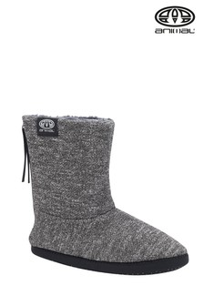 Animal Asphalt Grey Bollo Men's Slipper Boots