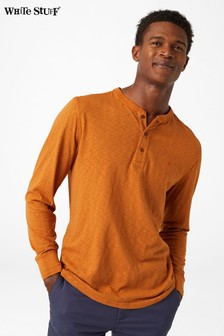 White Stuff Orange Penland Henley Poloshirt