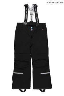 Polarn O. Pyret Black Waterproof Padded Winter Trousers