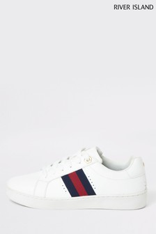 River Island Radish Side Stripe Lace Trainers