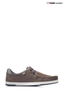 Base London® Grey Dougie Suede Lace-Up Shoes