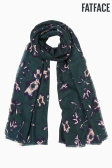 FatFace Green Floral Print Scarf