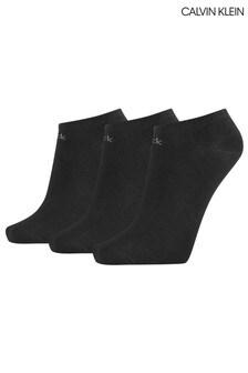Calvin Klein Black Chloe Trainer Socks 3 Pack