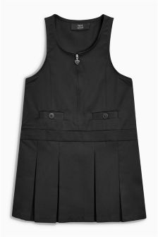 Zip Front Pinafore Dress (3-10yrs)