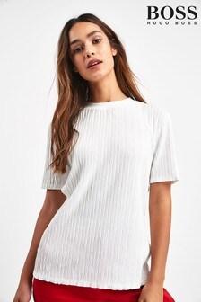 BOSS White Testructure T-Shirt