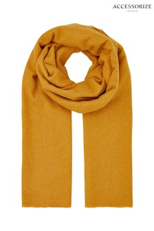 Accessorize Tan Wells Supersoft Blanket Scarf
