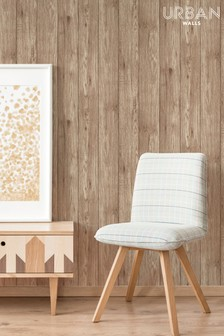 Urban Walls Lumber Wood Wallpaper by Urban Walls