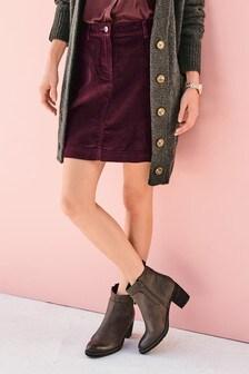 Cord Mini Skirt