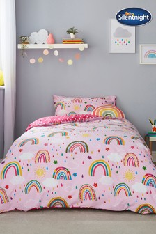 Healthy Growth Kids Rainbow Duvet Cover and Pillowcase Set by Silentnight