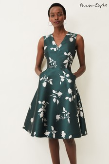 Phase Eight Green Jordyn Jacquard Dress