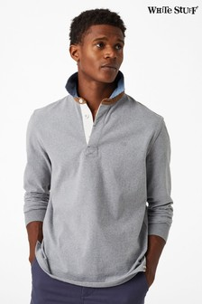 White Stuff Grey Crossfield Marl Rugby Shirt