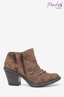 Blowfish Brown Lole Low Ankle Boots