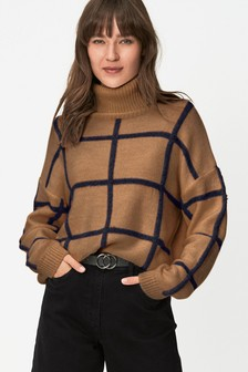 Funnel Neck Check Jumper