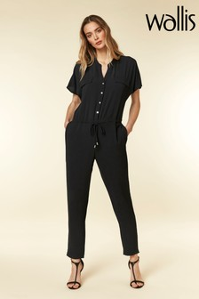 Wallis Black Boiler Jumpsuit