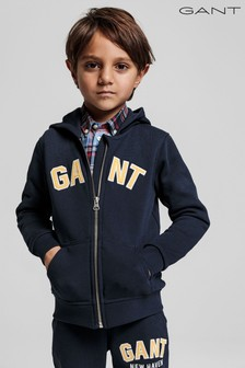 GANT Boys Logo Full Zip Hoody