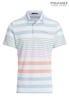RLX Ralph Lauren Golf Stripe Performance Poloshirt