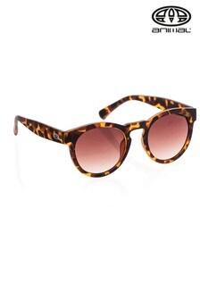 Animal Brown Rebound Round Frame Sunglasses