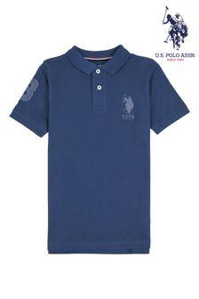 U.S. Polo Assn. Blue Core Pique Polo