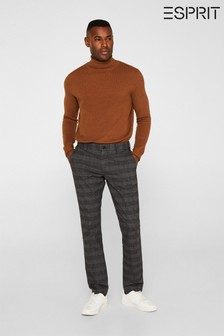 Esprit Slim Chinos With Overall Block Pattern