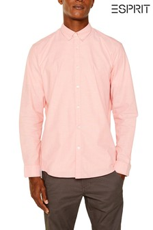 Esprit Peach Oxford Stretch Shirt