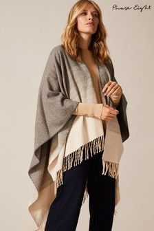 Phase Eight Grey Kasia Ombre Cape