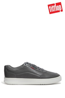 FitFlop Grey Men's Rally X Leather Sneakers