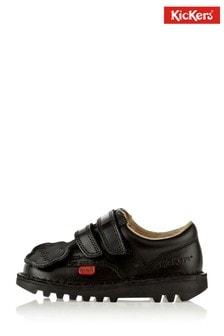 Kickers® Black Kick Lo Velcro Shoes