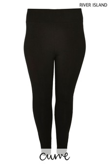 River Island Plus Black Jersey Leggings