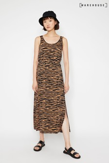 Warehouse Animal Tiger Print Maxi Dress
