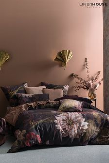 Linen House Navy Neve Floral Duvet Cover and Pillowcase Set
