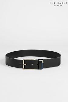 Ted Baker Black Keepsak Contrast Keeper Leather Belt